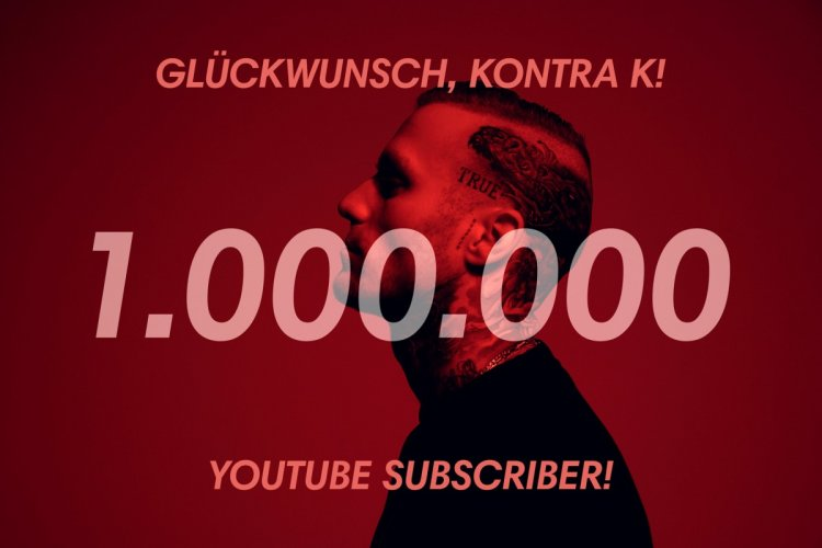 Kontra K erreicht die 1 Million YouTube Abonnenten!