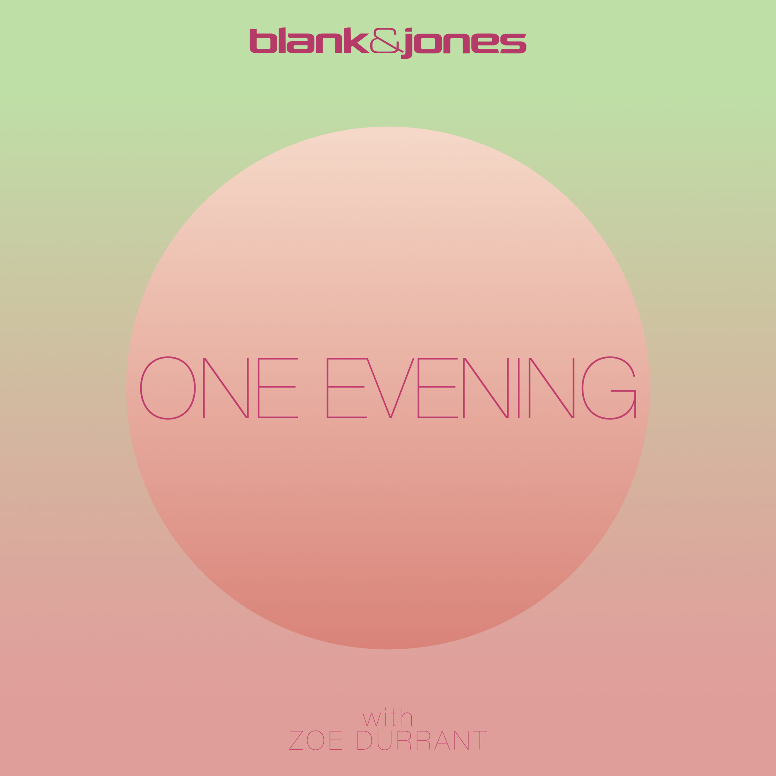 "Blank & Jones feat. Zoe Durrant Single Release ""One Evening"""