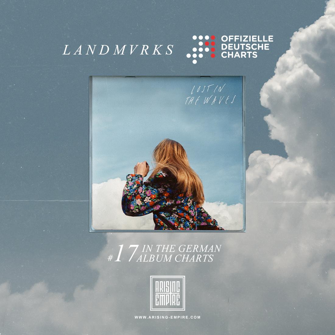 """LANDMVRKS """"Lost in the Waves"""" auf Platz 17 der Offiziellen Deutschen Album Charts"""